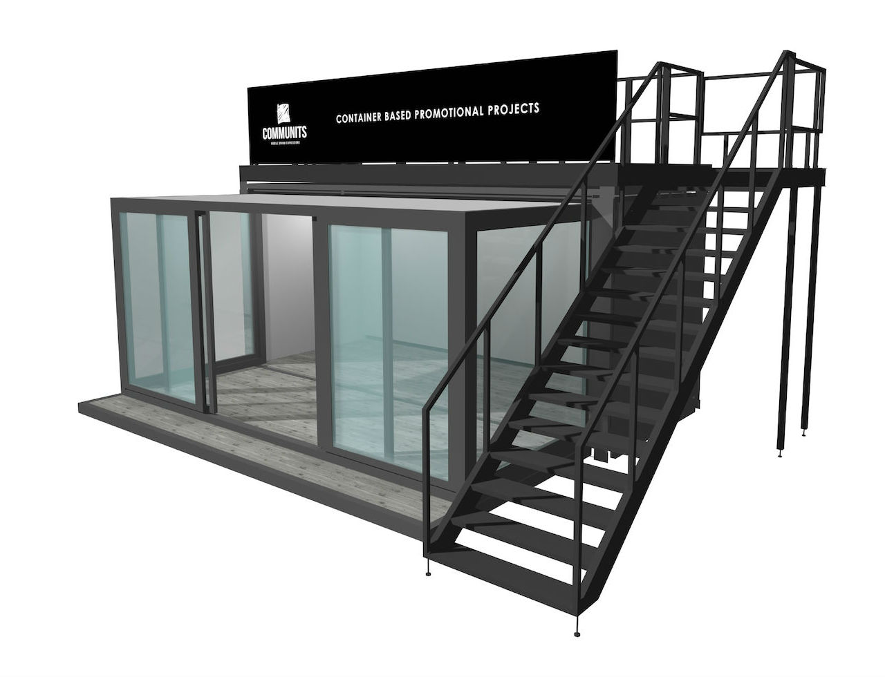 20 FT Uitschuifbare container voor evenementen pop-up shops en festivals
