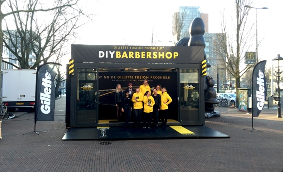 DIY Barbershop Communits event container
