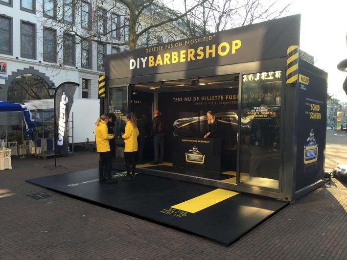DIY Barbershop Communits evenementen popup shop
